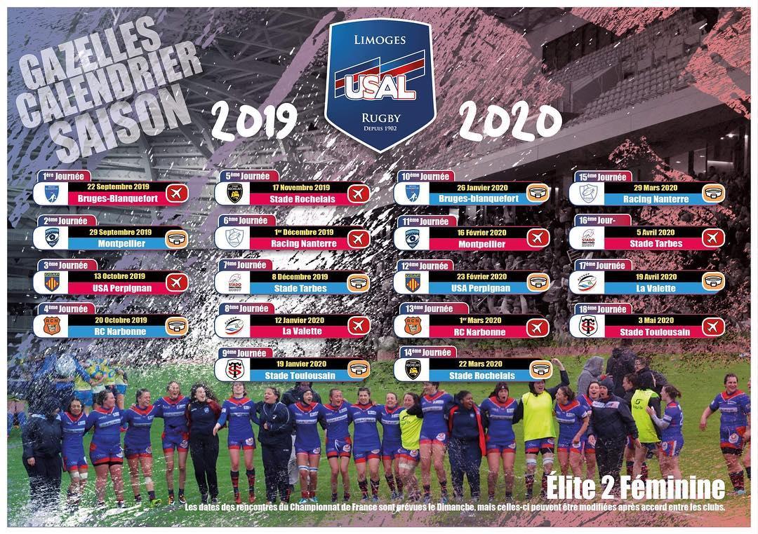 Montpellier Rugby Calendrier.Rugbycleek Et Hop Voici Le Calendrier De Nos Gazelles